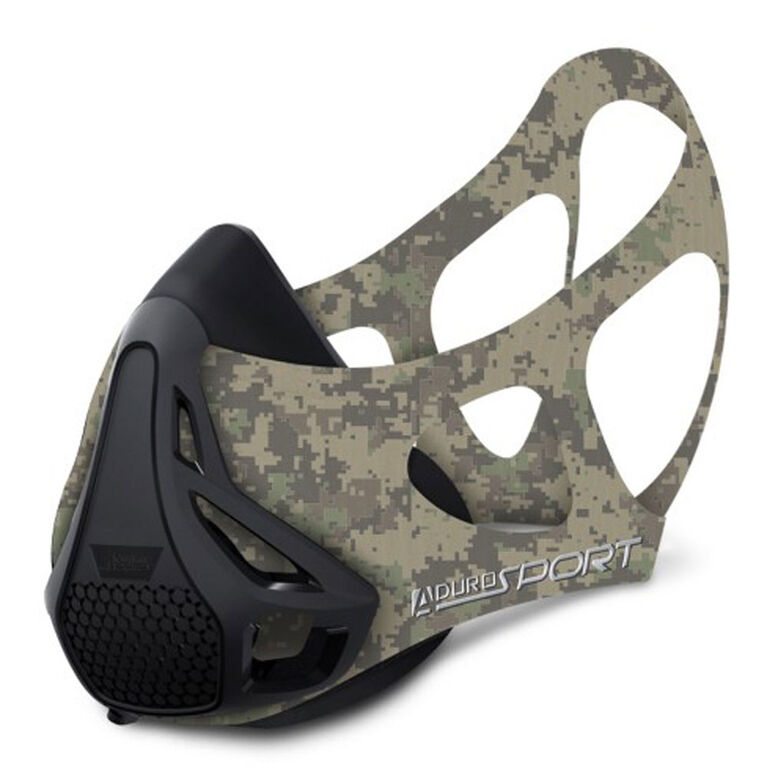 Masque d'entraînement de haute altitude à résistance maximale d' Aduro - Vert