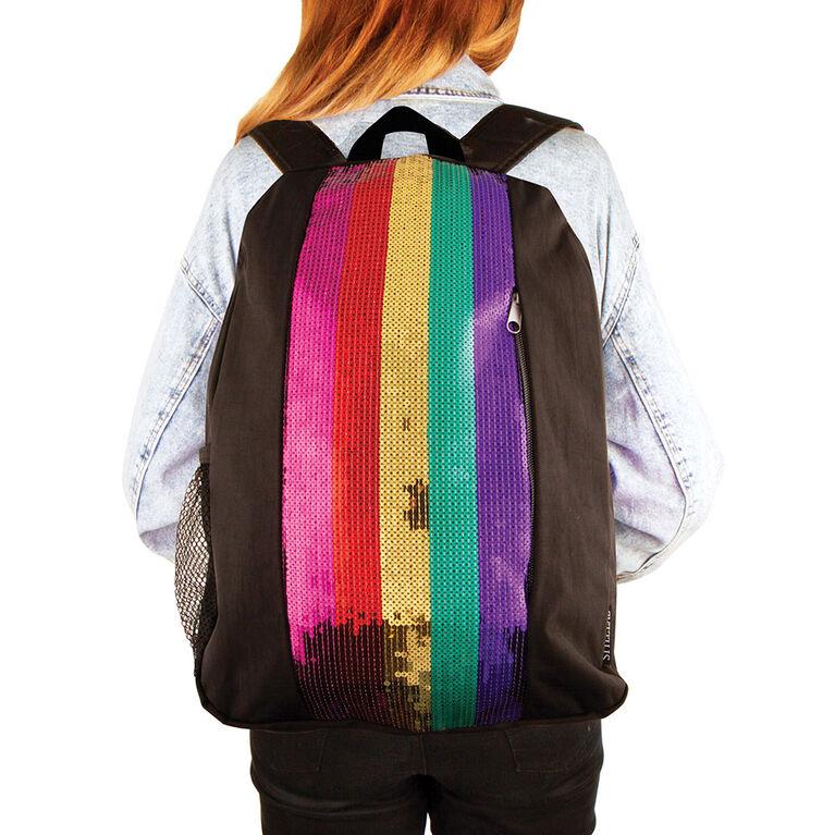 Fashion Angels - Rainbow Sequin Stripe Backpack
