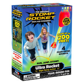 Stomp Rocket Ultra Rocket with 4 Rockets - English Edition