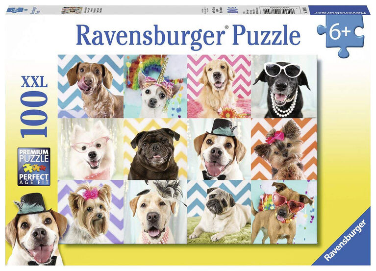 Ravensburger: Animals - Doggy Disguise casse-tête (100pc)