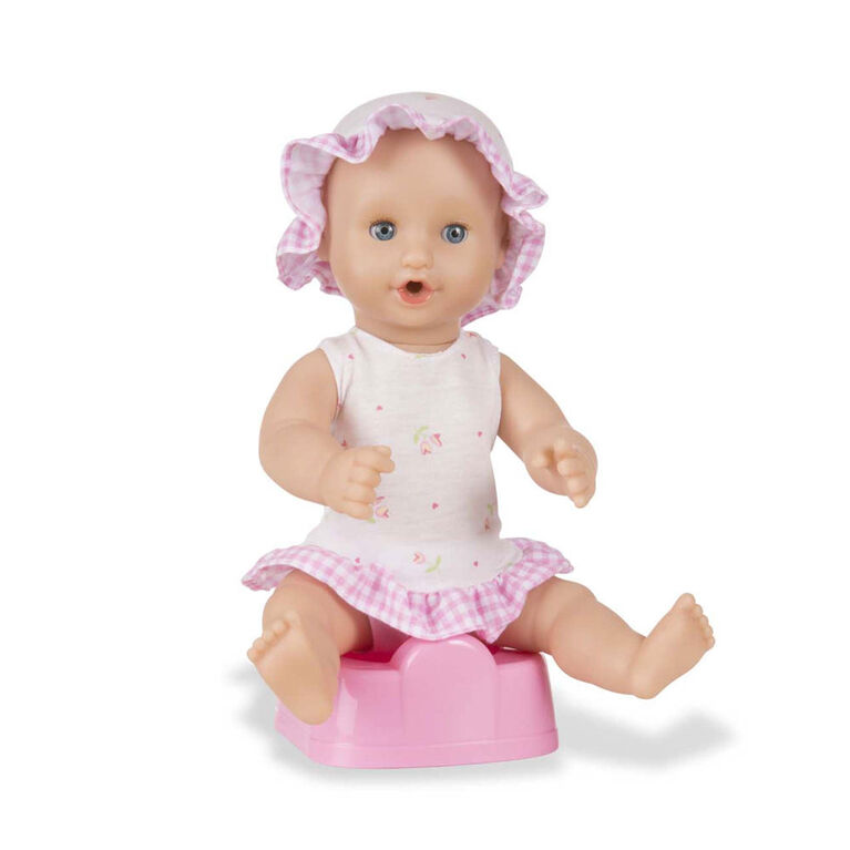Melissa & Doug - Mine to Love Annie 12-Inch Drink and Wet Poseable Baby Doll With Potty, Bottle, Pacifier, Diaper, Dress