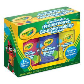 Gouache au doigt lavable de Crayola - Paquet de 3