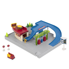Driven, Pocket Dine and Drive Pit Stop (5pc), Gas Station Playset