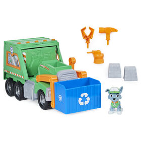 PAW Patrol, Rocky's Reuse It Deluxe Truck with Collectible Figure and 3 Tools