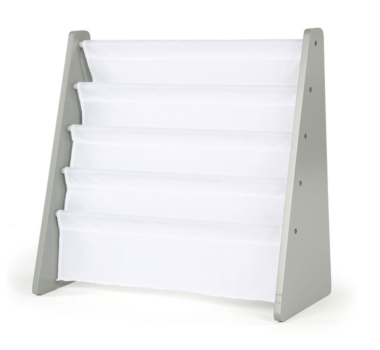 Inspire Bookrack (grey rack, white pockets)