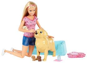 Barbie Newborn Puppy Playset
