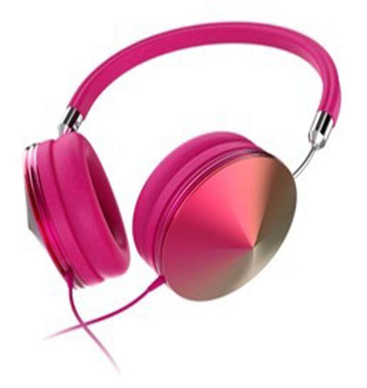Casque d'écoute Art + Sound Iridescent avec microphone,Rose
