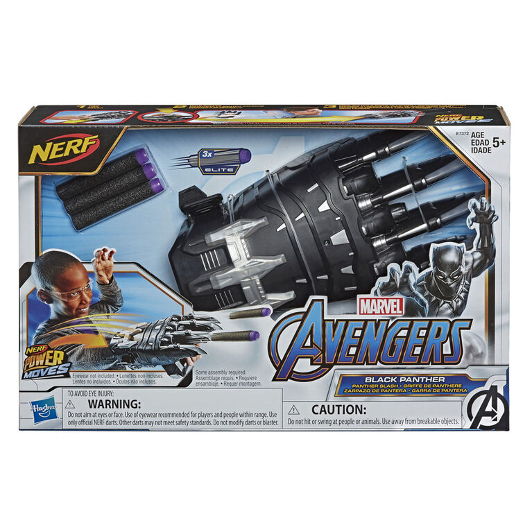 NERF Power Moves Marvel Avengers Griffe de combat Black Panther