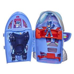 Pyjamasques, Spatio-totem 2 en 1, QG et fusée, jouet préscolaire