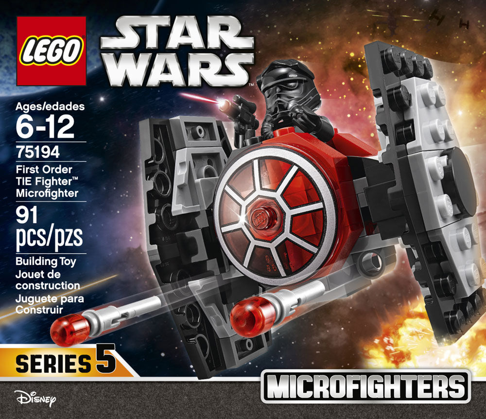 First Order TIE Fighter™ Microfighter 75194 91 Pcs LEGO® Star Wars™