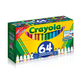 Crayola Washable Markers, 64 Ct