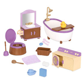 Li'l Woodzeez, Bathroom & Laundry Playset