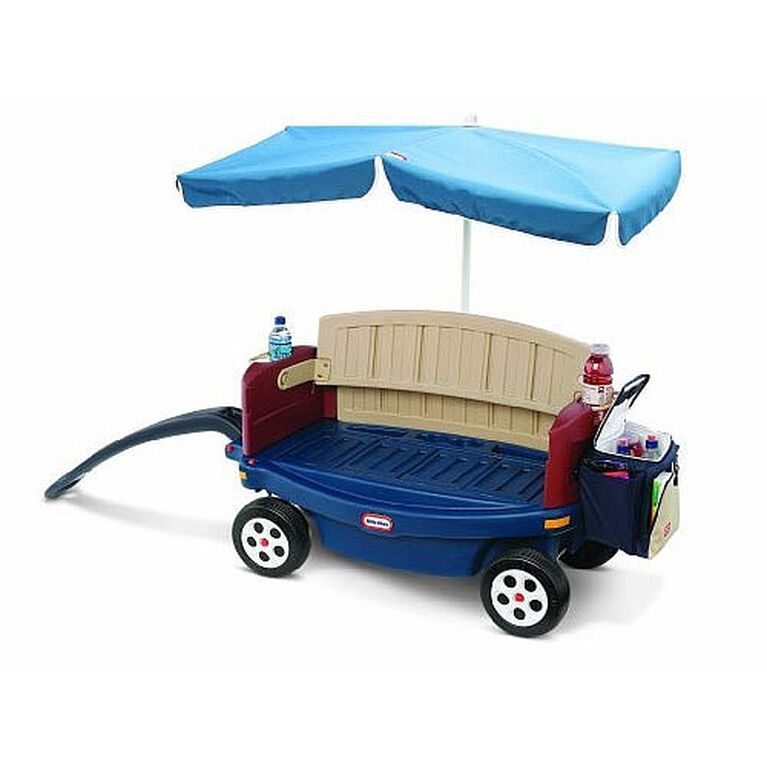 Little Tikes Deluxe Ride And Relax Wagon With Umbrella
