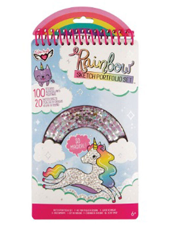 Portefeuille à croquis compact Rainbow Shaker Fashion Angels, multi