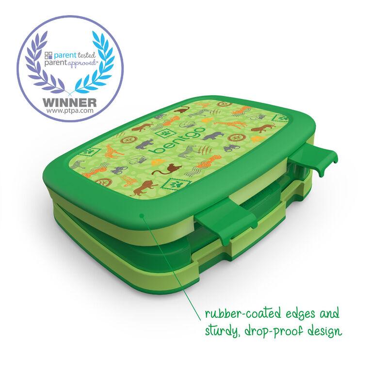Bentgo Kids Prints Boîte à lunch pour enfants de style bento à 5 compartiments - SAFARI