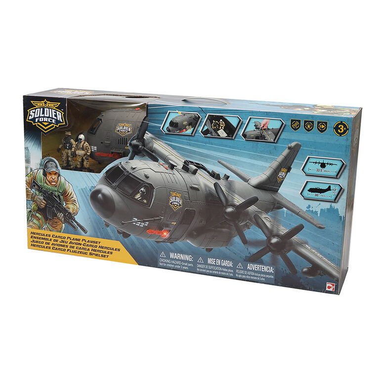 Soldier Force Hercules Cargo Plane Playset - R Exclusive