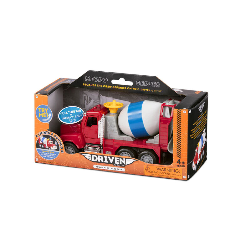 Driven, Toy Cement Truck with Lights and Sounds