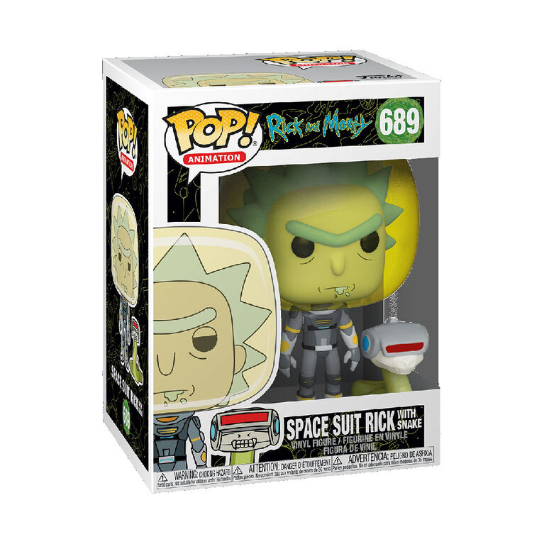 Funko POP! Animation: Rick and Morty - Space Suit Rick with Snake