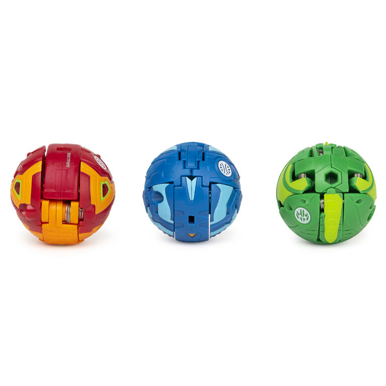 Bakugan Starter Pack 3-Pack, Hydorous Ultra, Armored Alliance Collectible Action Figures