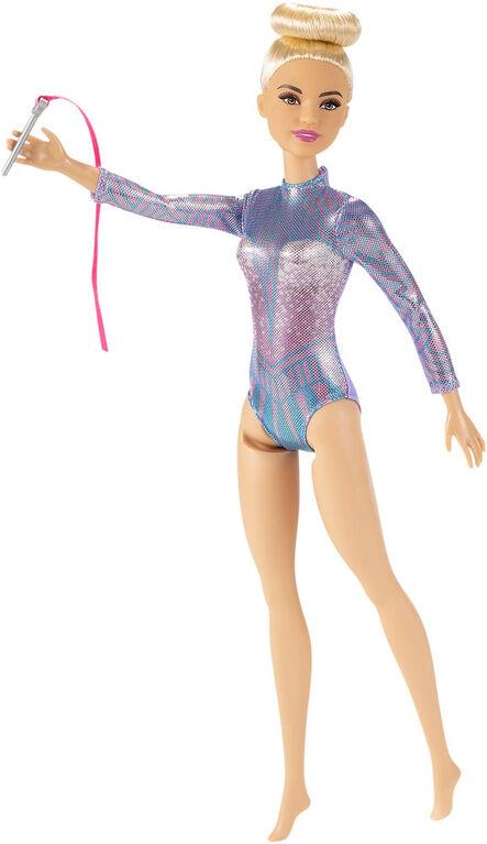 Barbie - Poupée Gymnaste rythmique blonde, 30,40 cm, justaucorps