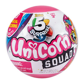 5 Surprise Unicorn Squad Mystery Collectible Capsule