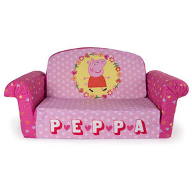Marshmallow Furniture Children's Upholstered 2 in 1 Flip Open Sofa - Peppa Pig