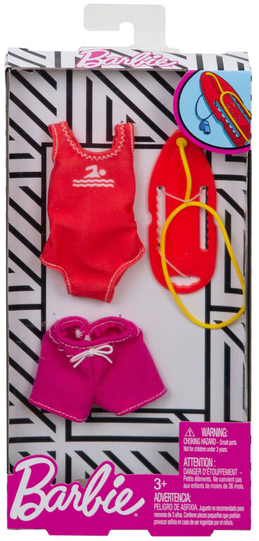 Barbie Career Fashions Pack, Lifeguard