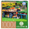 Artist Bruce MacQueen - 1000 Piece Adult Jigsaw Puzzle - Wagon with Pumpkins