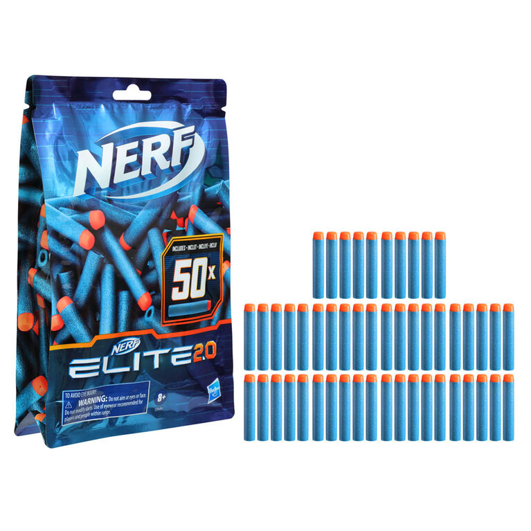 Recharge de 50 fléchettes Nerf Elite 2.0