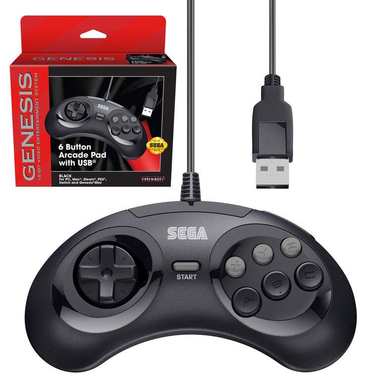 Sega Genesis Controller Black