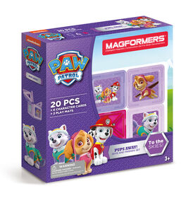 Magformers Paw Patrol Pups Away! Set (20 Pieces) - Édition anglaise