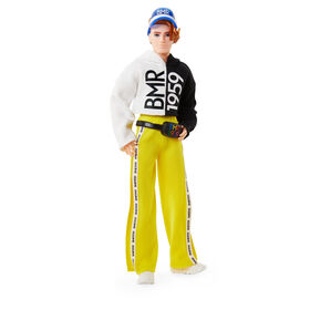 Barbie BMR1959 Poseable Ken Doll in Split Color Hoodie with Track Pants and Visor
