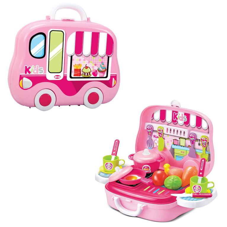 Toy Chef Children's Portable Mini Toy Kitchen Set