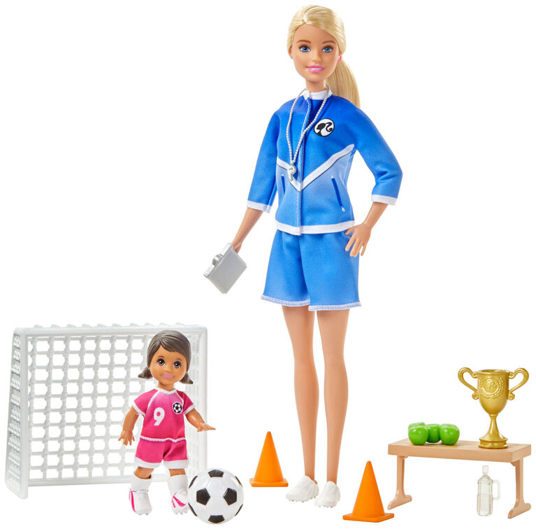 Barbie Soccer Coach Playset with 2 Dolls and Accessories