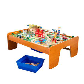 KidKraft - Table et coffret train Un tour en ville