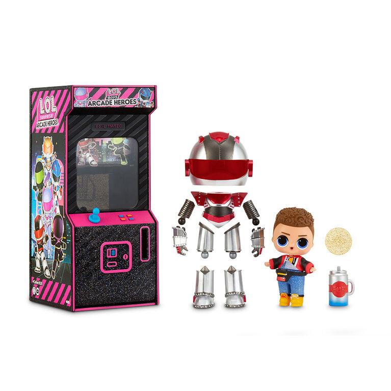 Héros d'arcade L.O.L. Surprise! Boys - Figurine d'action avec 15 surprises - une poupée par commande