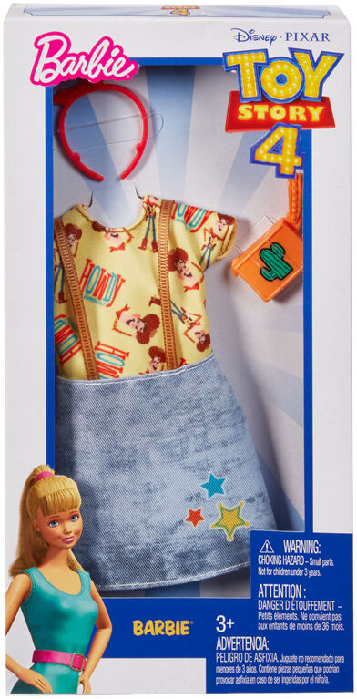 Barbie Toy Story Woody Top & Overall Dress Fashion Pack