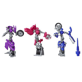 Transformers Toys Studio Series 52 Deluxe Transformers: Revenge of the Fallen Movie Arcee Chromia Elita-1 - 3-Pack, 4.5-inch
