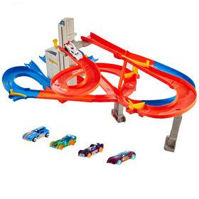 Hot Wheels - Coffret de jeu Autoroute Multi-niveaux. - Notre Exclusivité