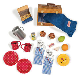 Our Generation, Packed For A Picnic, Play Food Accessory Set for 18-inch Dolls - English Edition