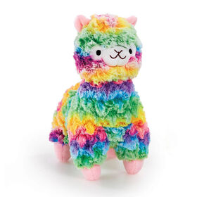"Snuggle Buddies Fleecy Mini Llama 9"" Plush Rainbow"
