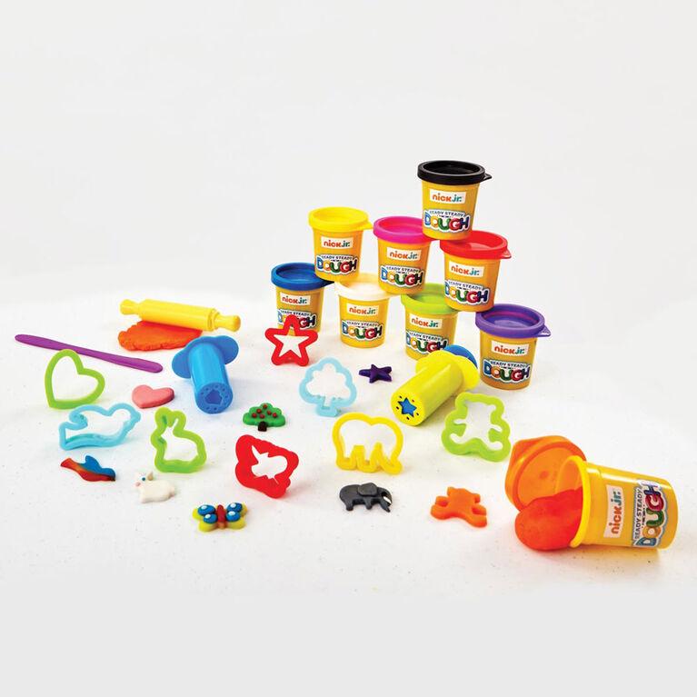 Ensemble de pâte à modeler Ready Steady Dough Lots of Pots de Nick Jr - Notre exclusivité