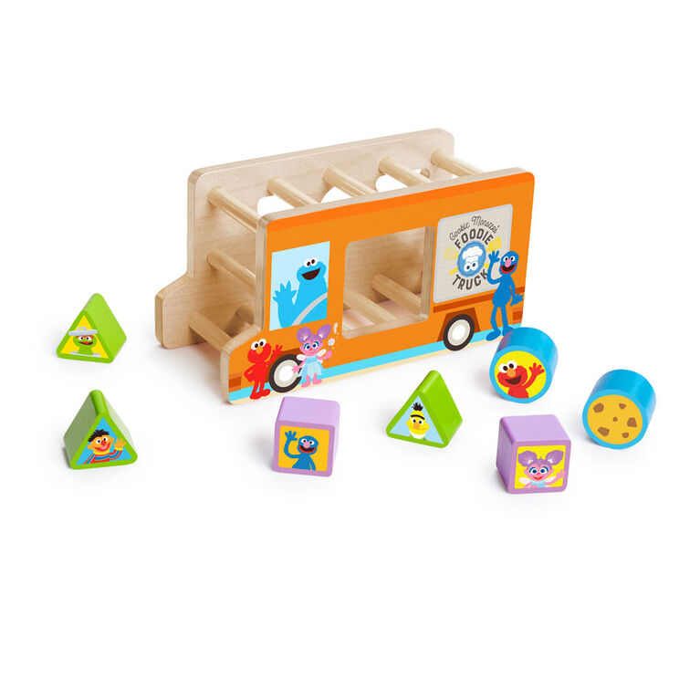 Foodie Truck Fun Wooden Shape Sorter