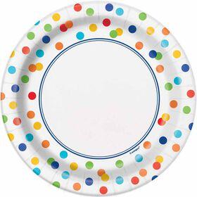 Rainbow Polka Dots Assiettes 7po, 8un