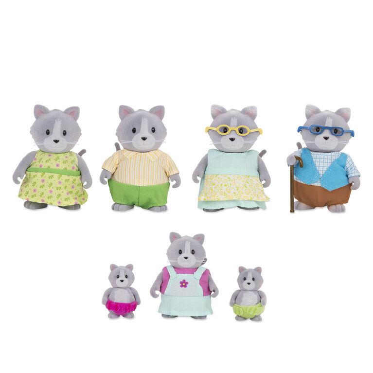 Daintypaw Chats, Li'l Woodzeez, Ensemble de petites figurines de chats