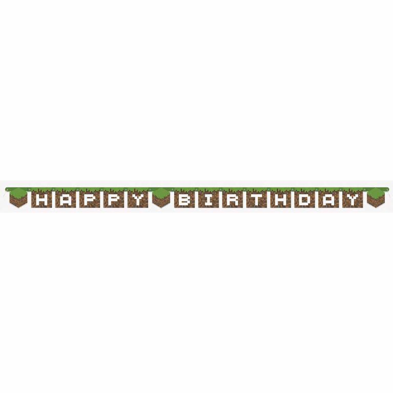 Minecraft Large Jointed Banner - English Edition