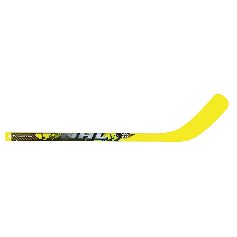 Franklin Sports NHL Elite Mini Hockey Stick and Ball Set - Yellow