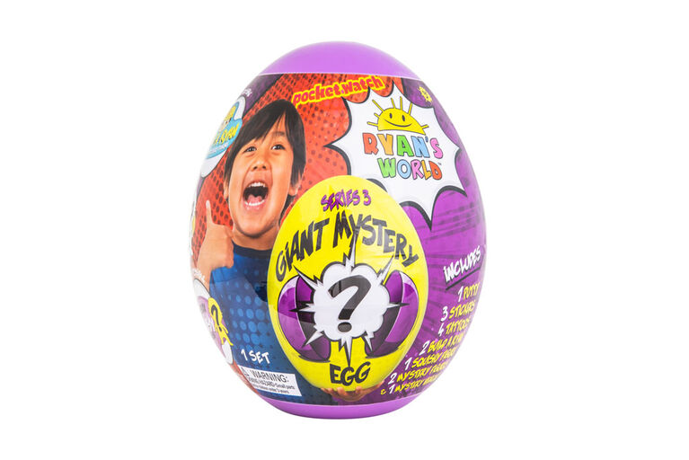 Ryan's World Giant Mystery Egg - Series 3 - English Edition