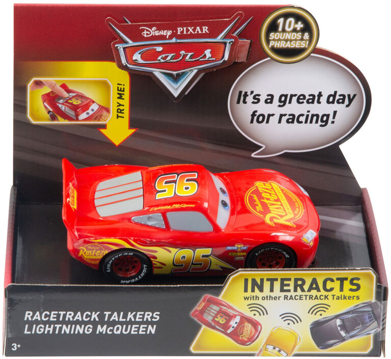 Disney/Pixar Cars Racetrack Talkers Lightning McQueen Vehicle - English Edition