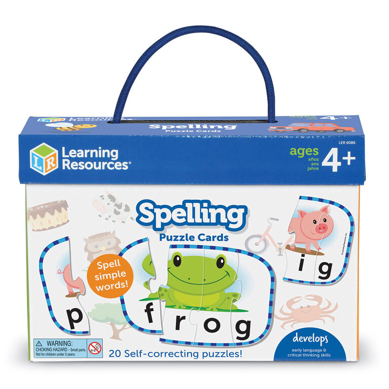 Spelling Puzzle Cards - English Edition